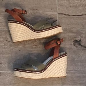 02df42dbbc5c lands  end canvas Shoes - Lands End Canvas wedge sandal in olive green